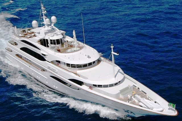 Motor Yacht Galaxy in one of the most luxury and beautiful yachts built from ...