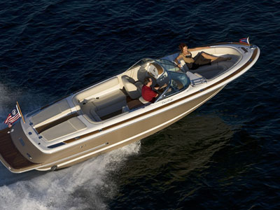 When talking of small boats, definitely the the small motor boat Chris Craft ...